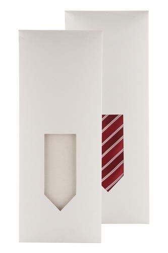 etui din hartie,pentru cravata, alb Pozo