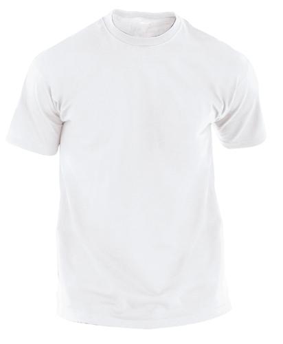 tricou alb pentru adulţi Hecom White