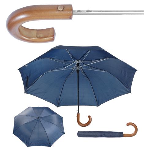 umbrelă pliabilă cu mâner din lemn Stansed